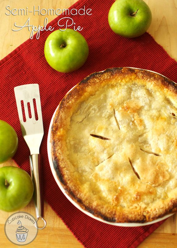 Semi-Homemade Apple Pie - A perfect pie for Thanksgiving that takes half the time!