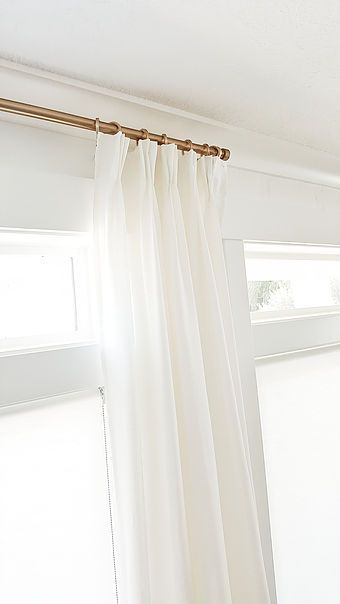 Pleated Curtains White Curtains Curtains Behind Bed