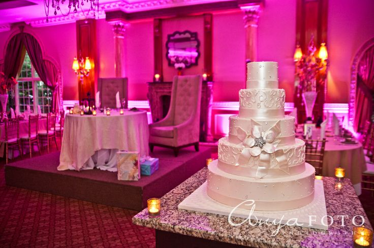 Wedding Cakes anyafoto.com #wedding #weddingcakes, wedding cake ideas, wedding cake desings, white wedding cake, 5 tier wedding cake, white ribbon cake, satin wedding cake,, pink wedding