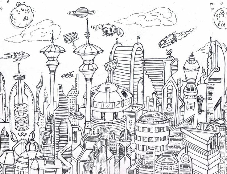 Barcelona Vs Manchester City Logo: Futuristic City Drawing - Google Search
