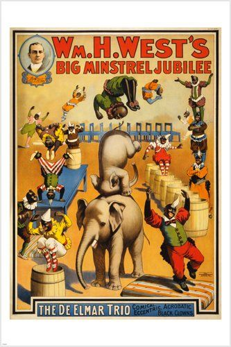 Buy vintage circus poster MINSTREL JUBILEE 24X36 acrobatic BLACK CLOWNS prized - Topvintagestyle.com ✓ FREE DELIVERY possible on eligible purchases