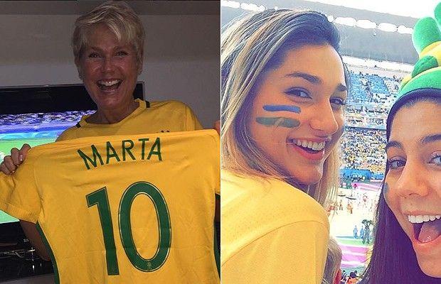 Xuxa e Sasha torcem verdadeiramente pelo seu país  (Foto: Reprodução Instagram )