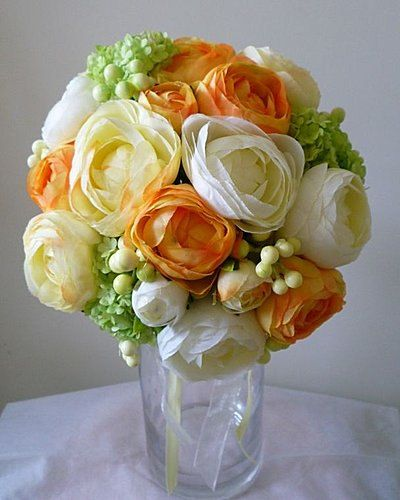298 best orange wedding flowers images on pinterest centrepiece rannaculus bridal bouquet wedding orange white wedding flower bouquet bridal bouquet wedding flowers mightylinksfo