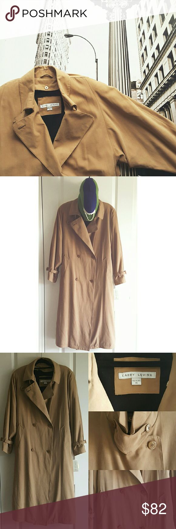 Larry Levine Trench Coat Gorgeous NWT Trench Coat! Perfect for this fall and winter season!!! Beautiful trench coat details. Can button either way, left or right side. Grab this before it's gone!! 🎉 Every purchase enters you in for a gift card drawing at the end of the month. Check out the Closet Rules listing for details. 💖 Larry Levine Jackets & Coats Trench Coats
