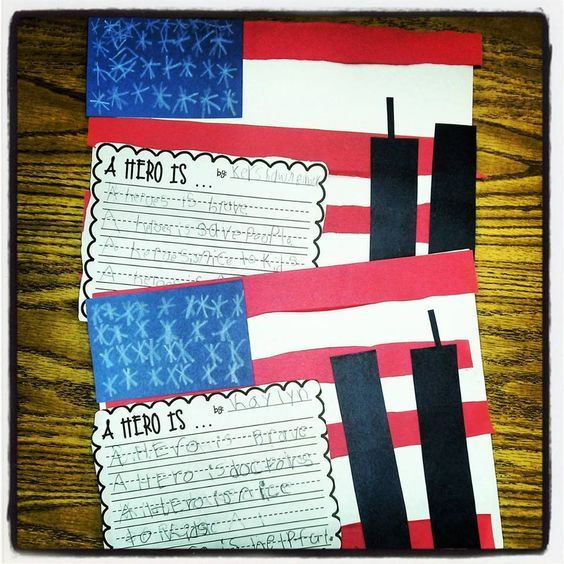 9/11 freebie and flag craft.  Great activity for the upcoming memorial.  Perfect for students in a special education setting.