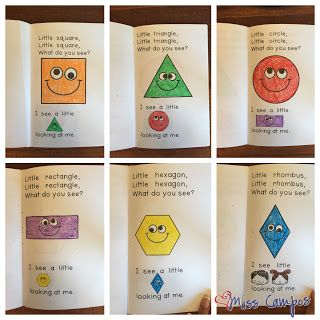 FREE - 2d shapes rhyming book for rectangle, triangle, circle, rectangle, hexagon and rhombus, ideal for preschool and kindergarten math