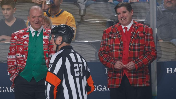 Dallas, TX - December 23: Peter Laviolette, head coach of the Nashville Predators before a game against the Dallas Stars at the American Airlines Center on December 23, 2017 in Dallas, Texas.
