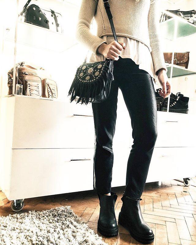 MAYA black  #maya #leather #aw16 #wildsecret