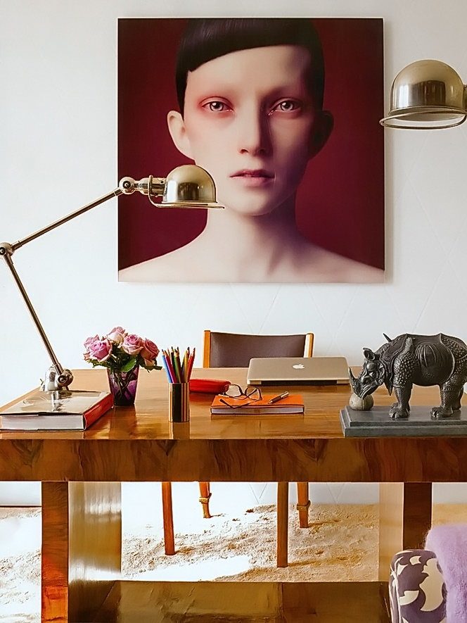 Impossibly chic office design, and statement portrait photography.