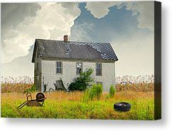 American Farmhouse Painting by Matthew Schwartz - American Farmhouse Fine Art Prints and Posters for Sale