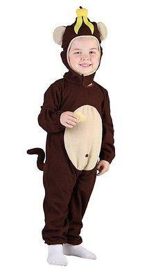 KIDS CHILDRENS TODDLER BANANA MONKEY FANCY DRESS COSTUME OUTFIT U37878