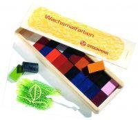 STOCKMAR Wachsmalblöcke 24 Farben, im Holzkasten