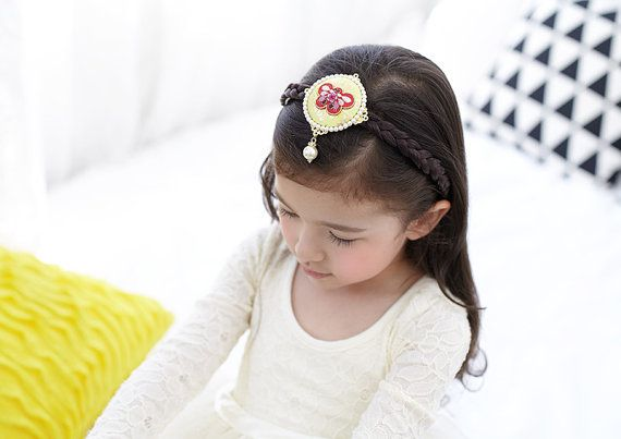 Korea colorful Hairband  Hanbok Hair clip   Korean by muzeday