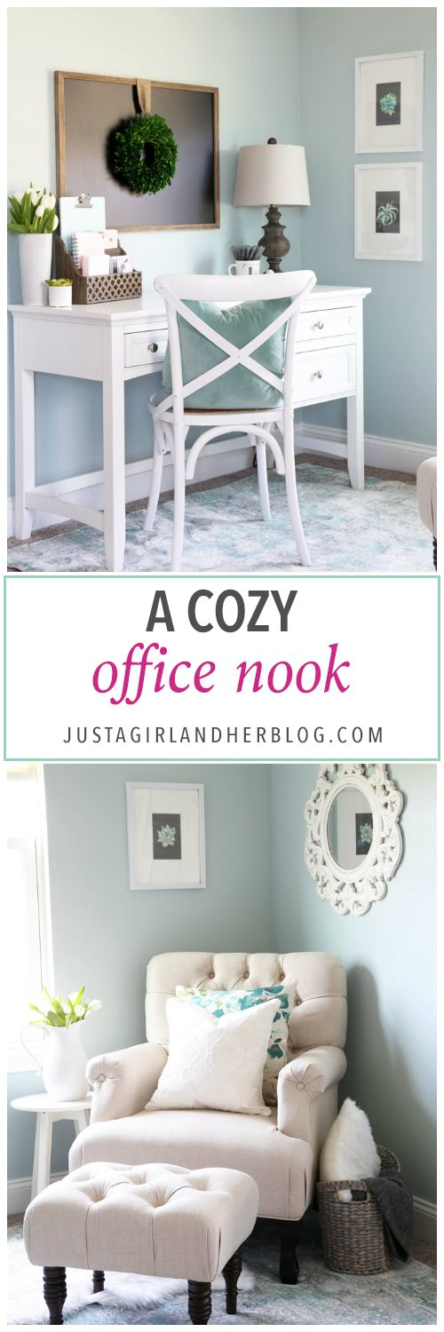 home office office wall. a cozy office nook home wall