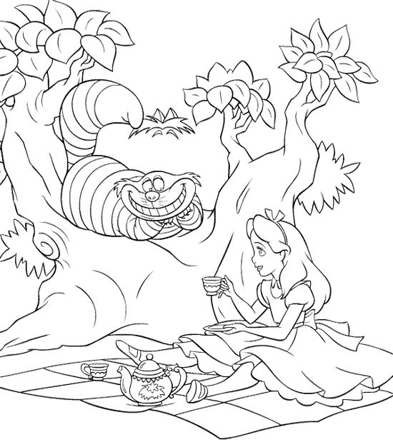 95 best Alice In Wonderland Adult Coloring Pages images on Pinterest ...
