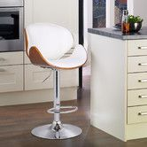 Found it at Wayfair - Bentwood Adjustable Height Bar Stool with Cushion