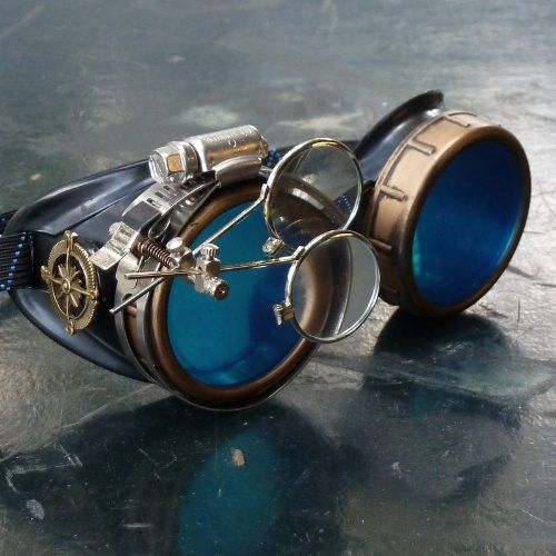 Handmade Burning Man's Steampunk Goggles                                                                                                                                                                                 More