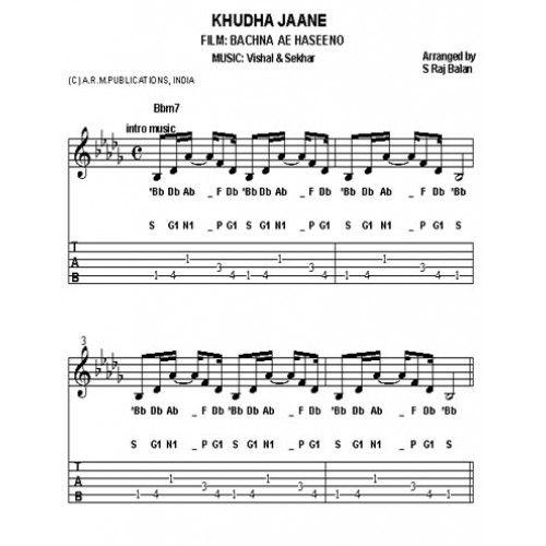 Free guitar sheet music hindi songs free hindi songs for Piano dance music 90 s