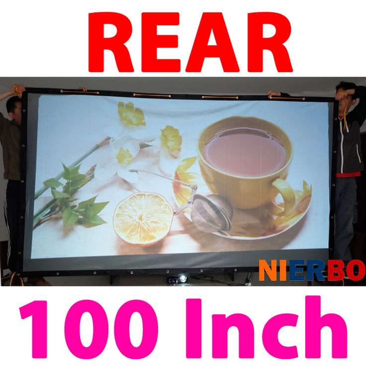 ==> [Free Shipping] Buy Best 100Inches 16:9 Good PVC Full HD Film Fast Fold Portable Rear Projector Projection Screens for LCD LED DLP HD 3D Movie Projector Online with LOWEST Price | 32637752348