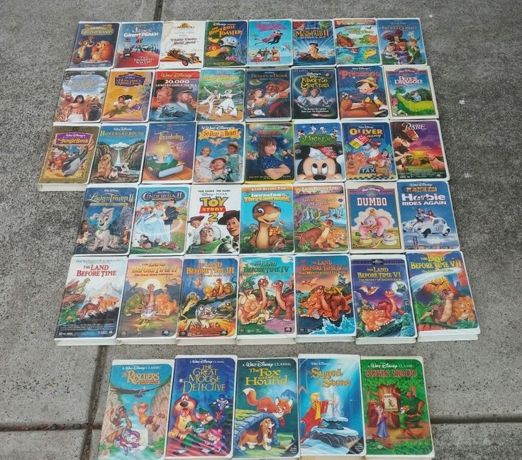 Black Diamond Disney VHS Lot (47) Beauty and the Beast 29 Disney 18 others
