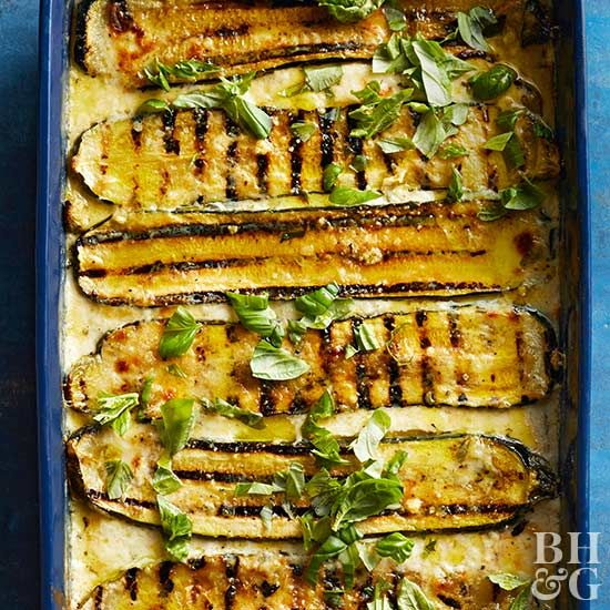 Why should eggplant have all the fun? Grilled zucchini planks stack up beautifully in this bumper crop casserole.