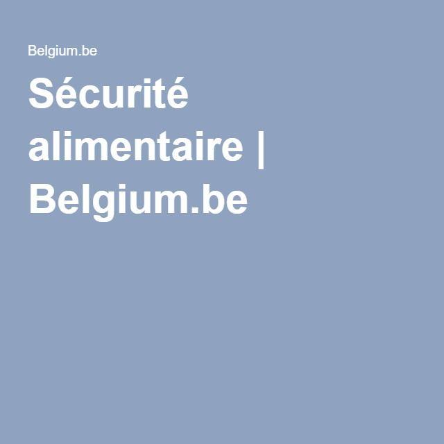 Sécurité alimentaire | Belgium.be