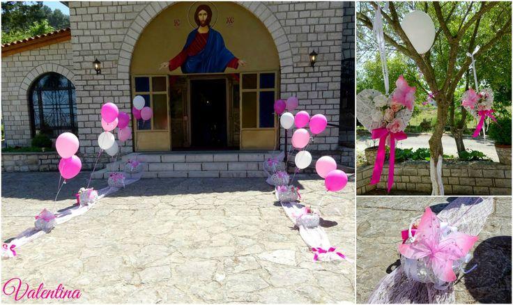 Στολισμός Βάπτισης με Θέμα Πεταλούδα σε αποχρώσεις του Φούξια!!!
