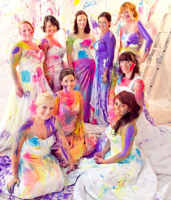 Trend Alert: Group Trash-the-Dress Session!