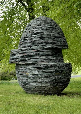 ˚Displaced Egg (7ft Tall) by Max Nowell - Westmorland Green Slate