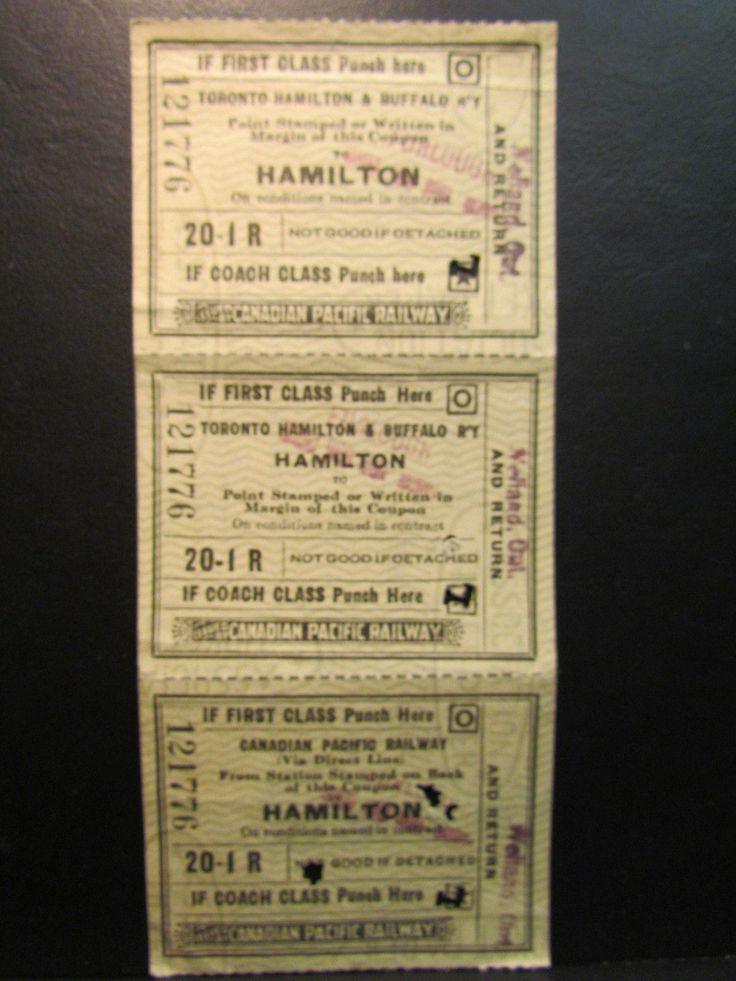 WWII 1945 Canadian Pacific Railways Train Ticket Furlough Welland Toronto Gray