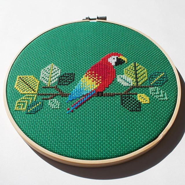 New pattern alert!  The first of several bird cross stitch patterns posted to…