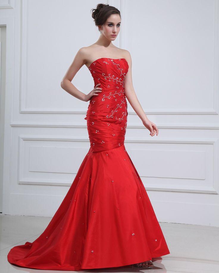 Fashionable Square Sleeveless Beading Ruffle Floor Length Taffeta Prom Dresses