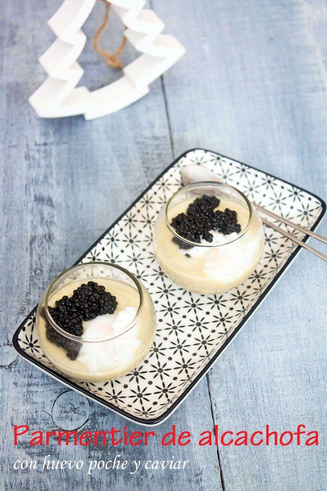 KOOKING: Parmentier de alcachofa con huevo poche y caviar