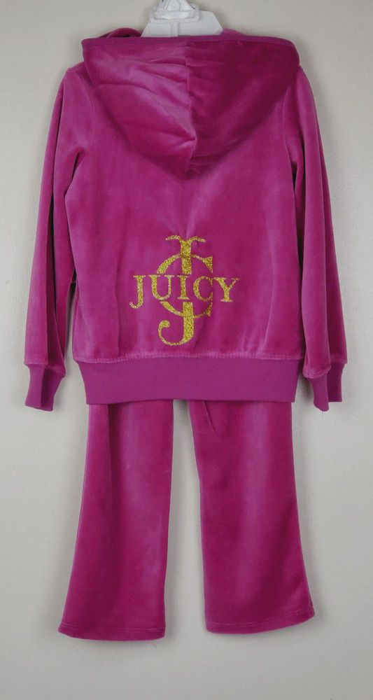 443537c767fc NWT Juicy Couture Toddler Girl 4T Plum 2 Pc Velour Jogging Track Warm Up  Suit  JuicyCouture  Tracksuit  DressyEverydayHoliday