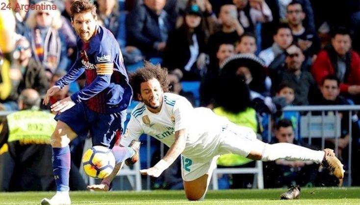 Real Madrid-Barcelona: el gol de Aleix Vidal después de una asistencia de Messi con un solo botín