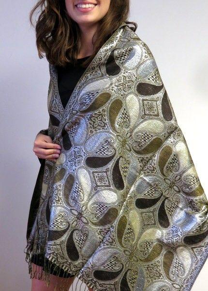 shiny pashmina shawls are a popular choice for evening dressy shawls for any season. Reversible, dressy and elegant pashminas so many colors and designs. http://www.yourselegantly.com/pashmina-shawls/shiny-shawls.html