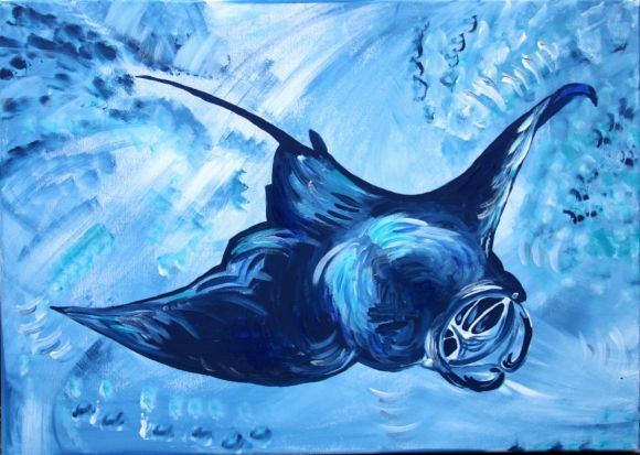 Relaxing skte fish Relaxing skte fish - In-context view 125 Eur. Original by Silvie Tripes