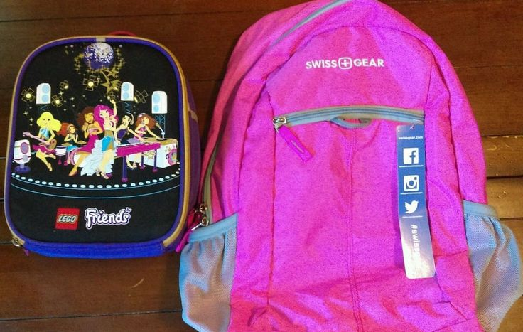 Swiss Gear backpack bright pink SA6716Lego Friends lunch bag Insulated…
