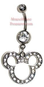 Mickey mouse belly button ring