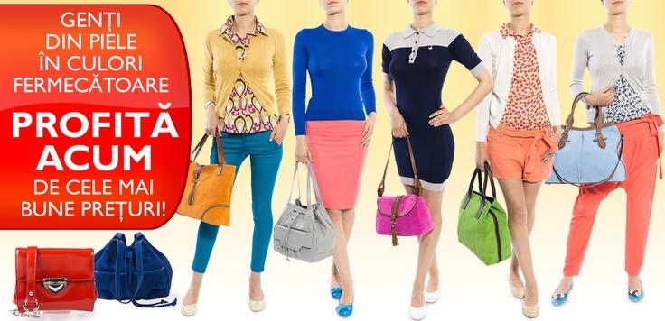 Material + Culoare şi Formă + Preţ = TinaR LOVE! :) START SHOPPING BAGS: http://www.tinar.ro/accesorii/genti.html