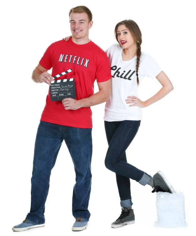 Sometimes, you might just want to Netflix and Chill instead of going to a Halloween party this year. We totally won't judge. ;)