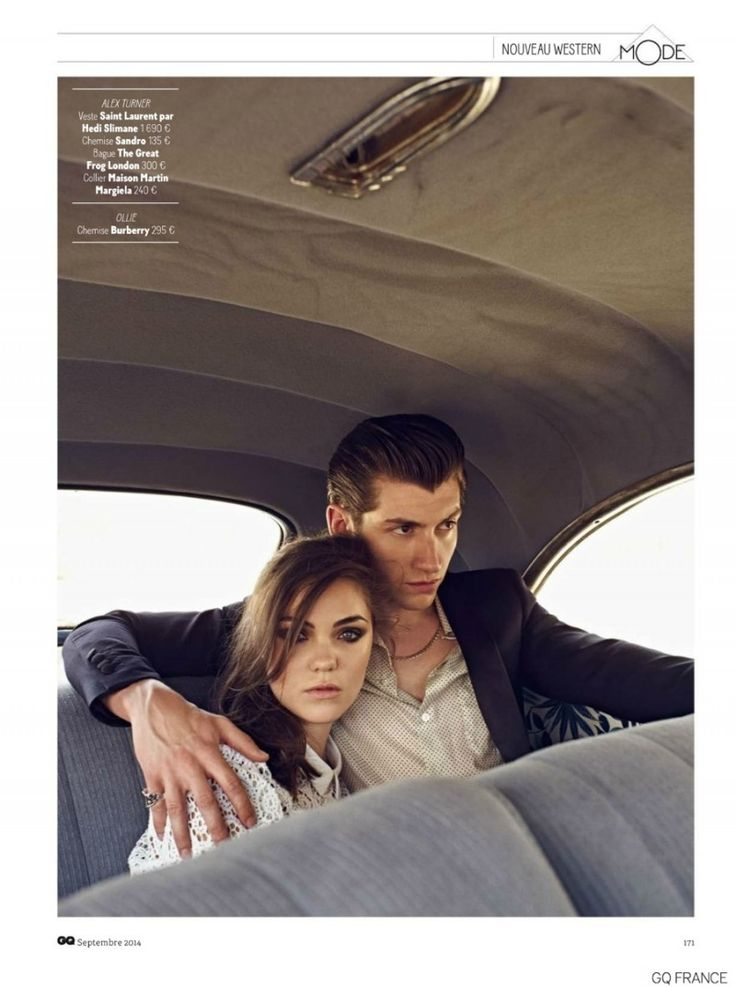 Arctic Monkeys Alex Turner Stars in Western Themed Shoot for GQ France September 2014 Issue