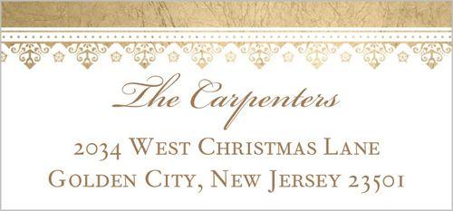 Blessings Of Christmas Address Label | Christmas Address Labels | Shutterfly