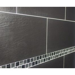 Qrock Riven Nero Wall and Floor Tile