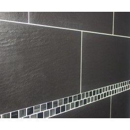 Qrock Riven Nero Wall and Floor Tile