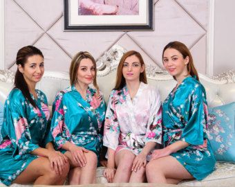 Kimono robe bridesmaid robe bridal party robe bridesmaid gift silk robe wedding dress,barn wedding,silver wedding ring,outdoor wedding,