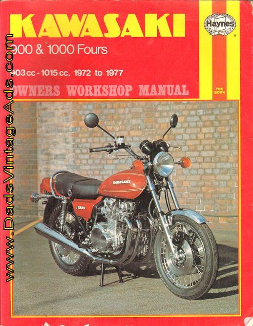 Z-1 Z-900 KZ-900 Z-1000 KZ-1000   Models covered:   1. Kawasaki Z1 Series, 903cc, UK March 1973 to October 1976  2. Kawasaki Z1 Series, 903cc, USA 1973 to 1975  3. Kawasaki Z900 903cc, UK January 1976 to October 1976  4. Kawasaki KZ900, 903cc, USA 1975 to 1977  5. Kawasaki Z1000, 1015cc, UK October