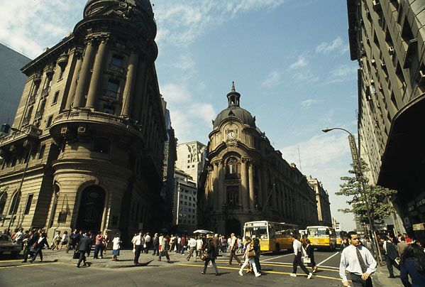 La bolsa de comercio. Santiago