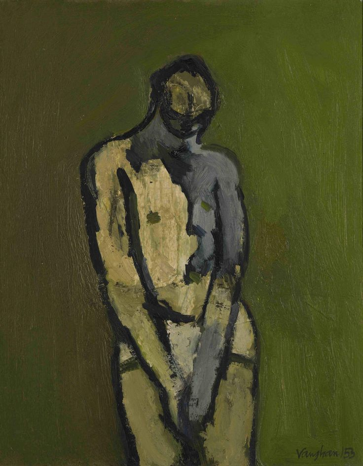 Keith Vaughan (1912–1977), Study for Nude Against a Green Background, 1953