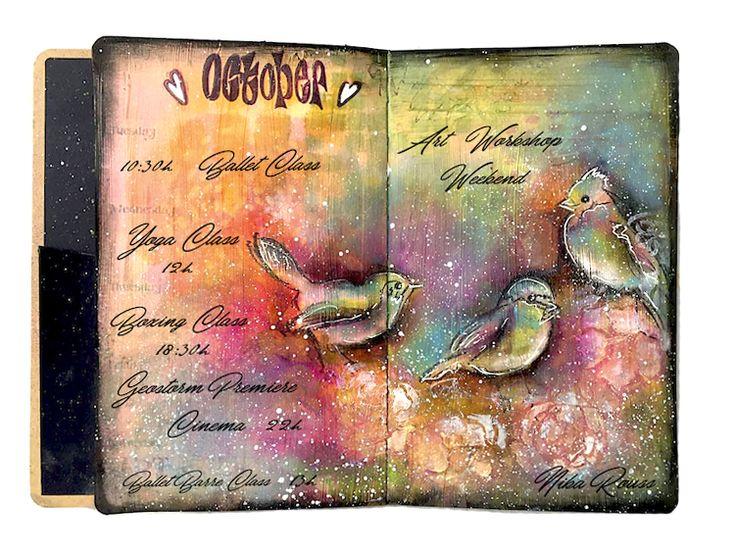 BIRDS CREATIVE DYARY ART JOURNAL
